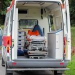 Dank der Fahrtrage ist ein schonender Patiententransport möglich